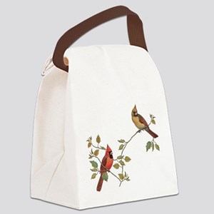 Cardinal Couple Canvas Lunch Bag