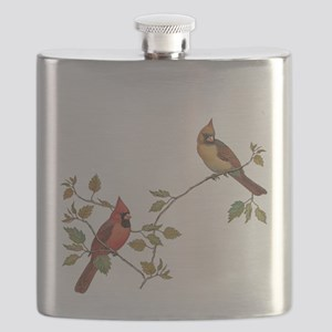 Cardinal Couple Flask