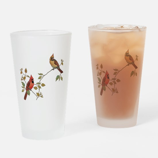 Cardinal Couple Drinking Glass