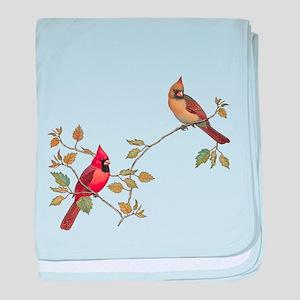Cardinal Couple baby blanket
