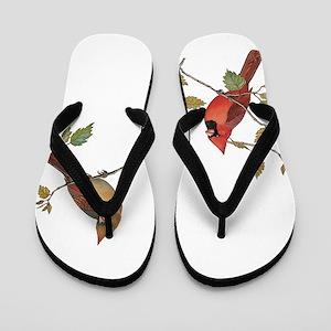 Cardinal Couple Flip Flops