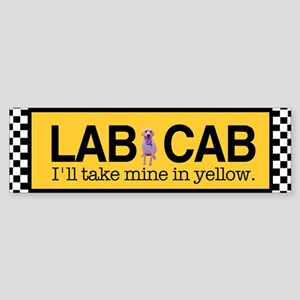 Yellow Lab Bumper Sticker