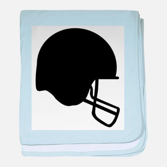 Football Helmet Silhouette baby blanket