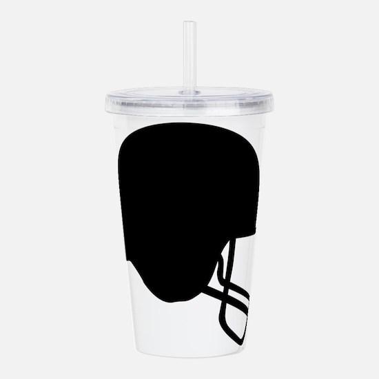 Football Helmet Silhou Acrylic Double-wall Tumbler