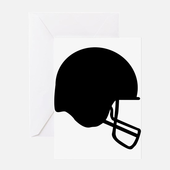 Football Helmet Silhouette Greeting Cards