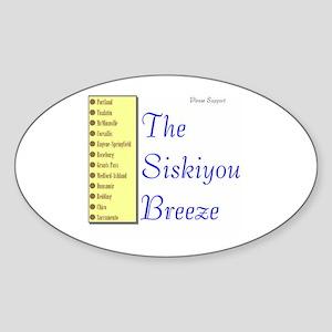 Siskiyou Breeze Oval Sticker