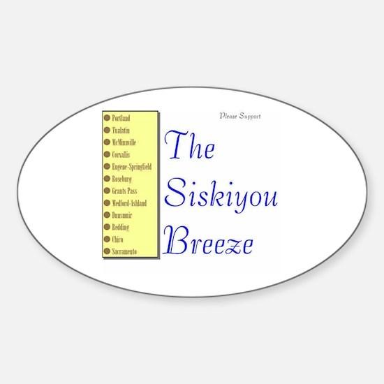 Siskiyou Breeze Oval Decal