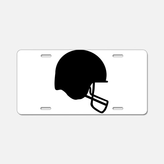 Football Helmet Silhouette Aluminum License Plate