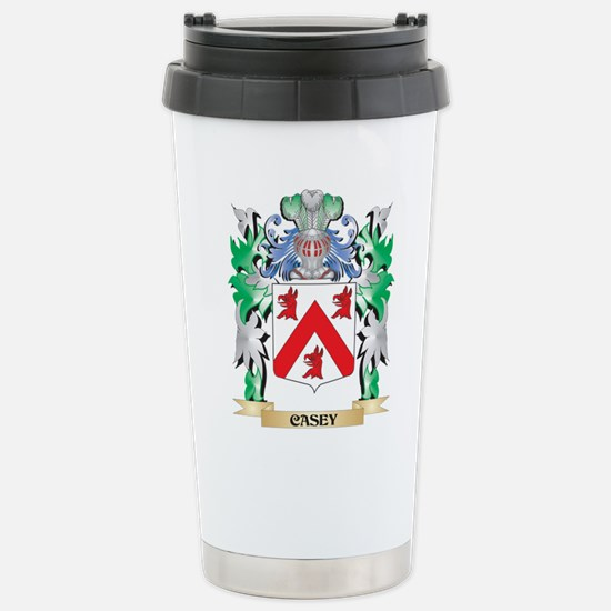 Casey Coat of Arms - Fa Stainless Steel Travel Mug