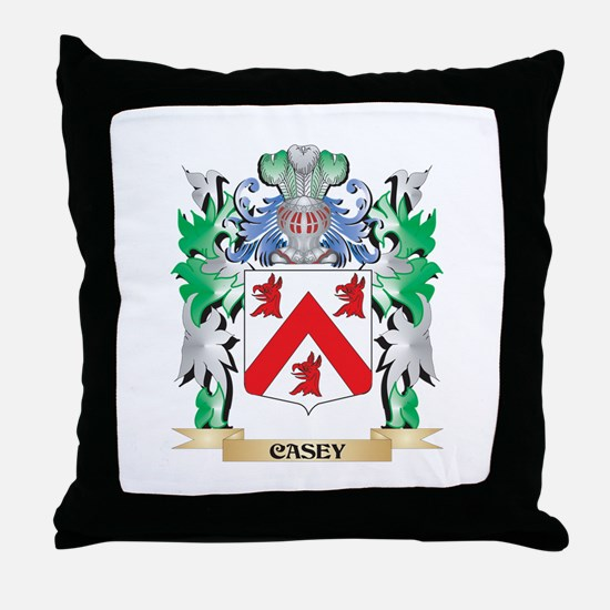 Casey Coat of Arms - Family Crest Throw Pillow