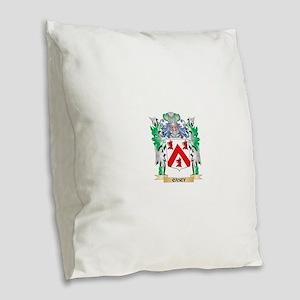 Casey Coat of Arms - Family Cr Burlap Throw Pillow