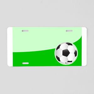 Soccer Ball Background Aluminum License Plate