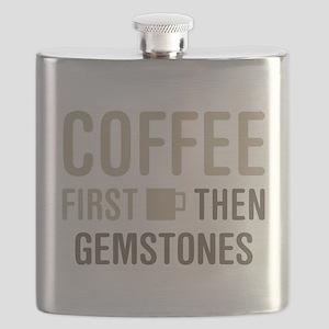 Coffee Then Gemstones Flask