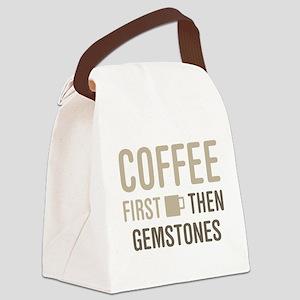 Coffee Then Gemstones Canvas Lunch Bag