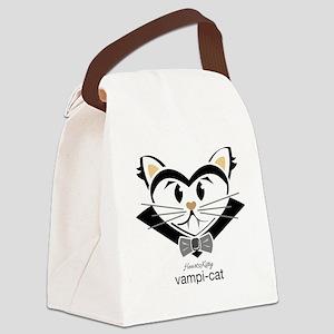 Vampi-Cat Canvas Lunch Bag