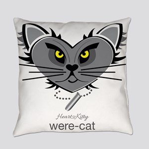 Were-Cat Everyday Pillow