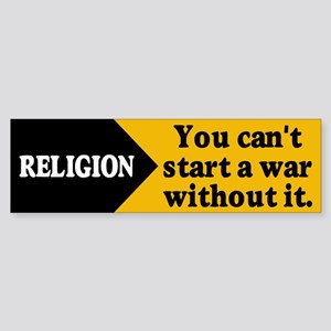 RELIGION WAR Bumper Sticker