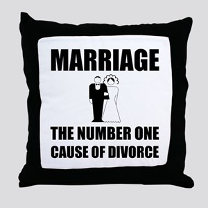 Cause Of Divorce Throw Pillow