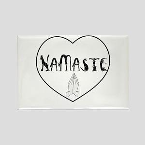 Namaste Cat W Hands Magnets