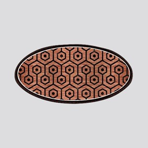 HEXAGON1 BLACK MARBLE & COPPER BRUSHED METAL Patch