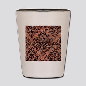 DAMASK1 BLACK MARBLE & COPPER BRUSHED M Shot Glass