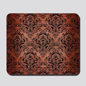 DAMASK1 BLACK MARBLE & COPPER BRUSHED ME Mousepad