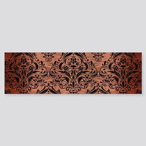 DAMASK1 BLACK MARBLE & COPPER BRU Sticker (Bumper)
