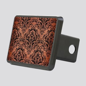 DAMASK1 BLACK MARBLE & COP Rectangular Hitch Cover