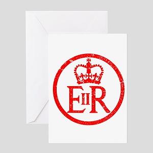 Elizabeth's Reign Emblem Rubber Ink Greeting Cards