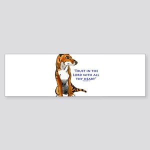 Trust in the Lord Thylacine Bumper Sticker