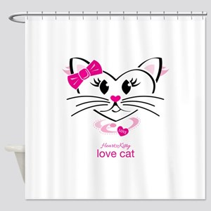 Love Cat Shower Curtain