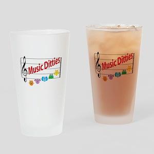 Music Ditties Drinking Glass