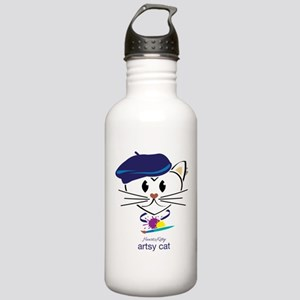 Artsy Cat Stainless Water Bottle 1.0L