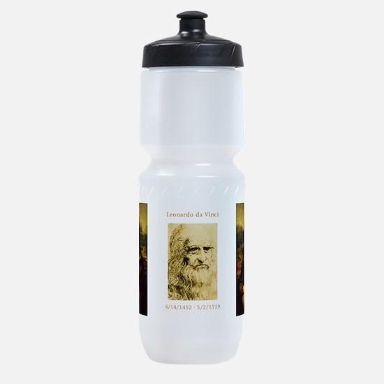 Mona Lisa by Leonardo da Vinci Sports Bottle