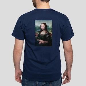Mona Lisa by Leonardo da Vinci Dark T-Shirt