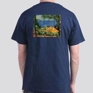 L'Estaque with Red Roofs by Cezanne Dark T-Shirt
