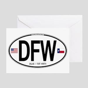 Texas Euro Oval - DFW Greeting Card