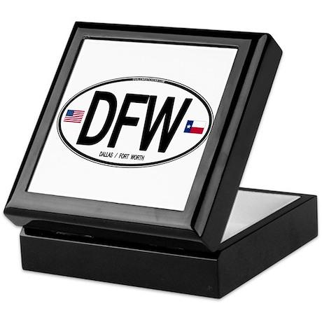 Texas Euro Oval - DFW Keepsake Box
