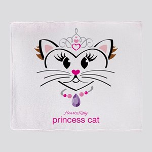 Princess Cat Throw Blanket