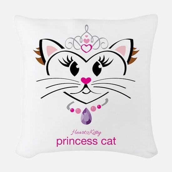 Princess Cat Woven Throw Pillow