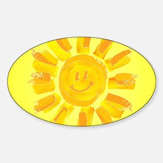 hAPPY SMILEY FACE SUNSHINE YELLOW ORANGE Decal