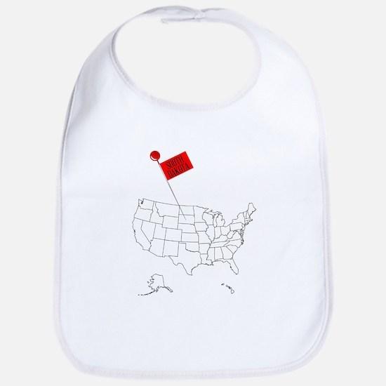 Knob Pin South Dakota Baby Bib