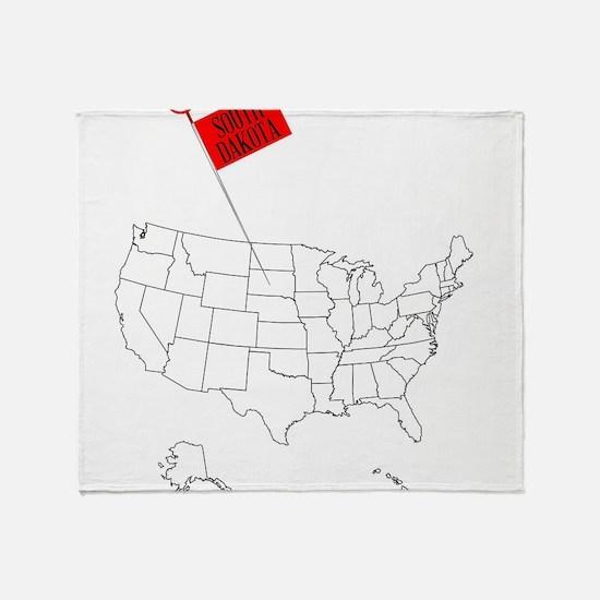 Knob Pin South Dakota Throw Blanket