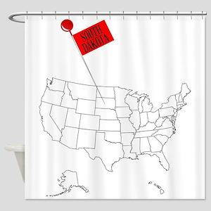 Knob Pin South Dakota Shower Curtain