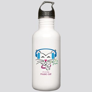 Music Cat Stainless Water Bottle 1.0L