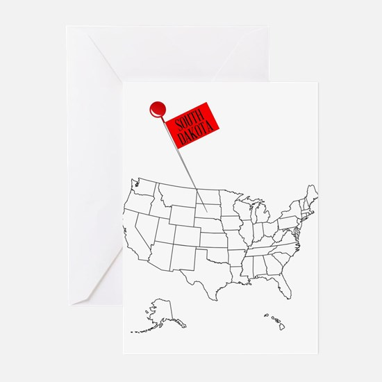Knob Pin South Dakota Greeting Cards