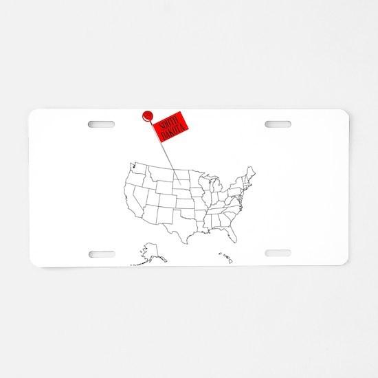 Knob Pin South Dakota Aluminum License Plate