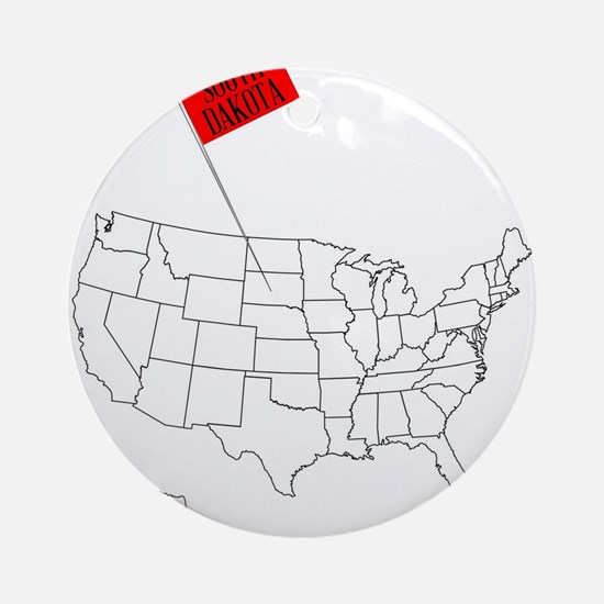 Knob Pin South Dakota Round Ornament