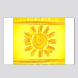 hAPPY SMILEY FACE SUNSHIN Postcards (Package of 8)