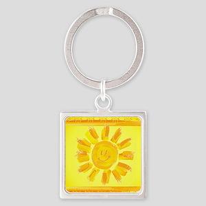 hAPPY SMILEY FACE SUNSHINE YELLOW ORANGE Keychains